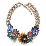 Jeweled Flowers Necklace