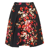 Leticia Optic Floral Print Pleat Skirt