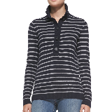 Giselle Sweater | Charcoal Stripe