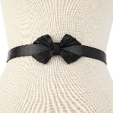 Leather Bow Belt