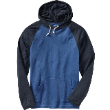 Lightweight Color Block Hoody Blue Hoodie