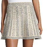 BCBGMAXAZRIA Queeny Printed Circle Skirt