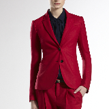 Wool Blazer | Red