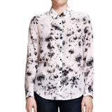 Laurel's black and white floral shirt on How to Get Away with Murder