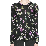 Michaela's black floral sweater on How to Get Away with Murder