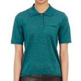 Knit Polo Top | Turquoise