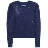 Mindy's blue sparkle sweater on The Mindy Project
