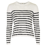 Spencer's white striped sweater on Pretty Little Liars