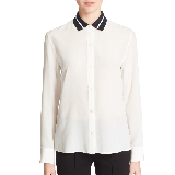 Spencers white shirt with black collar on pretty little liares