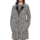 Reversible Houndstooth Double Face Cashmere