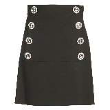 Nautical Button Skirt