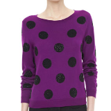 Celyn Sequin Polka Dot Sweater