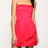 Strapless Mini Tulip Dress