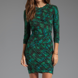 Tara Pleated Tonal Snake Print Dress