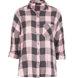 Oversized Check Top