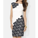 Two-Tone Lace Sheath Dress