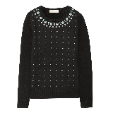 Stud Embellished Jersey Sweater