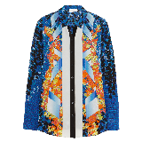 Arrow Printed Silk Shirt
