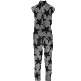 Discovery Printed Crepe de Chine Jumpsuit