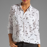 Slim Signature Star Print Blouse