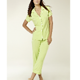 Short Sleeve Capri Pajamas (Citrus)