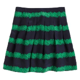 Silk Skirt Beanstalk Stripe